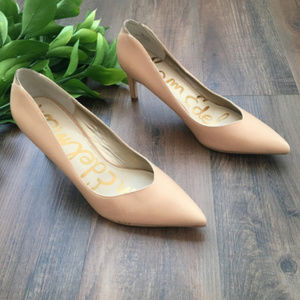 Sam Edelman Orella Nude Pointed Toe Pumps